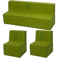 Velinda Kinderzimmer-Set m. Stickerei: 2xKinderstuhl+Sofa Kindermöbel Spielecke Ruheecke preisvergleich bei kinderzimmerdekopreise.eu