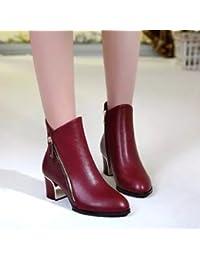 Botas de invierno para código con botas gruesas, rojo, 36 EU