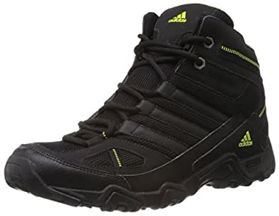 Adidas Men's Xaphan Mid Black and Mid Green Mesh Trekking and Hiking Shoes - 11 UK
