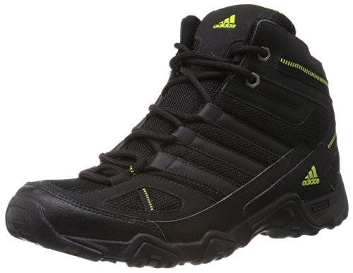 adidas Men's Xaphan Mid Black and Mid Green Mesh Trekking and Hiking Shoes - 9 UK