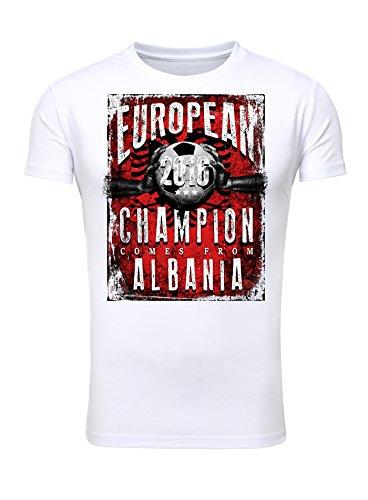 Legendary Items T-Shirt EUROPEAN CHAMPION 2016 Albanien Printshirt Europameister EM Fußball Trikot Weiß