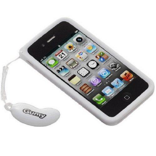 JVC AC-GP4S-W GUMY Schutzhülle für iPhone 4 / 4s, Weiß Jvc Gumy Phones