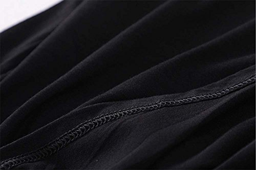 Deyou Femmes New Plain sans Manches Gilet Robe Dames Stretch Round Scoop Décolleté Doux à Long Strappy T-Shirt Camisole Gilet Débardeur Noir 3