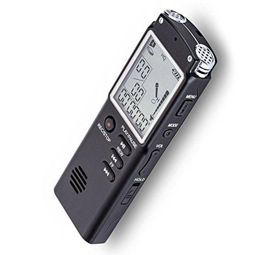 8 GB / 16 GB / 32 GB Voice Recorder, USB Professional 96 Stunden Diktiergerät Digital Audio Voice Recorder mit WAV MP3 Player 8GB