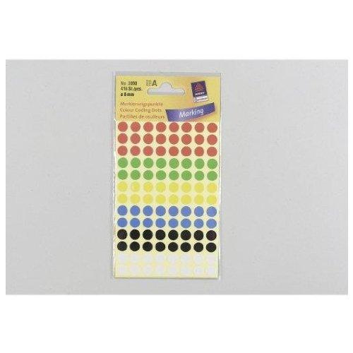 Avery Round Labels Ø 8 416pieza(s) - Etiqueta autoadhesiva (416 pieza(s))