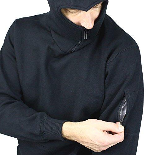 No Face No Name Ninja-Hoodie Style Battle schwarz S-5XL Schwarz