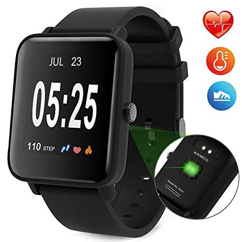 XXWECO 2018 Fitness Tracker mit herzfrequenz,Fitness Armband IP67 Wasserdicht mit Schlafüberwachung, Kalorienzähler, Entfernungsmesser, Aktivitätstracker für Android und iOS Smartphones