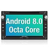 PUMPKIN Android 8.0 Autoradio Moniceiver für VW Passat Golf Polo mit Navi Unterstützt Bluetooth DAB + WLAN 4G USB CD DVD Android Auto MicroSD 2 Din 7 Zoll Bildschirm