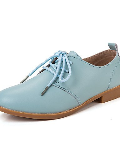 ZQ 2016 Scarpe Donna - Stringate - Tempo libero / Formale / Casual - Comoda - Piatto - Pelle - Marrone / Rosa / Bianco / Beige / Blu scuro , brown-us8.5 / eu39 / uk6.5 / cn40 , brown-us8.5 / eu39 / uk beige-us6 / eu36 / uk4 / cn36