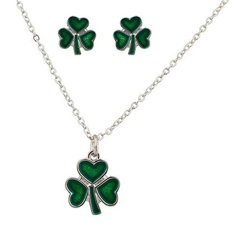 lux-accesorios-tres-hojas-corazon-trebol-san-dia-de-san-patricio-collar-y-pendientes-a-juego-con