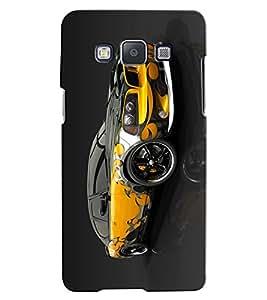 Citydreamz Yellow Car Hard Polycarbonate Designer Back Case Cover For Samsung Galaxy A3