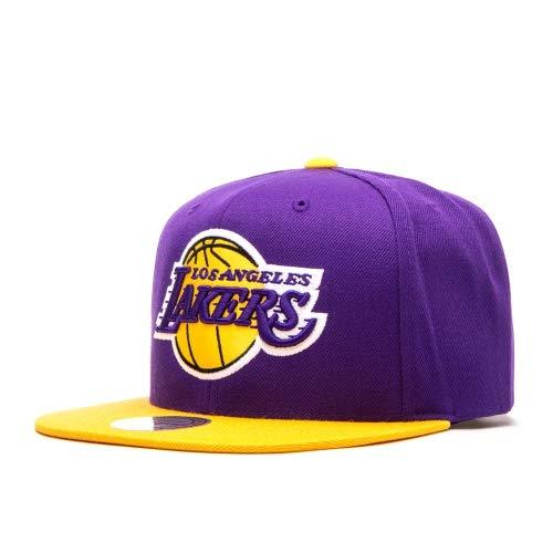 Mitchell & Ness Snapback Cap NBA Satin Fused Los Angeles Lakers Purple
