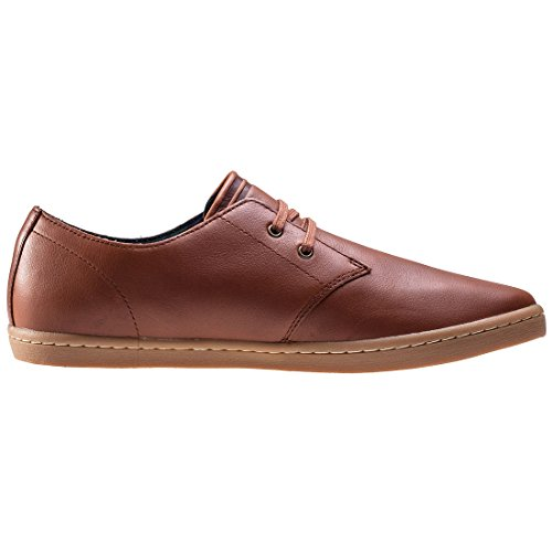 Fred Perry Byron Low Tumbled Leather Tan B1133448, Basket Marron