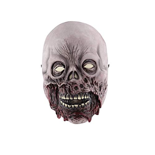 Halloween Rotten Gesicht Dämon Zombie Latex Maske April Fool Es Day Funny Horror Demon (Scary Dämon Gesicht)