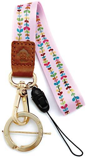 H.M Umhängeband Golden Series Schlüsselanhänger/USB-Flash-Laufwerk/Handy/Geldbörse etc. (Blumen-Schnur)