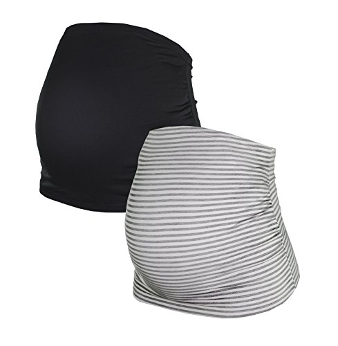 HERZMUTTER - Ceinture de grossesse spécial grossesse - Femme Schwarz/Grau-gestreift