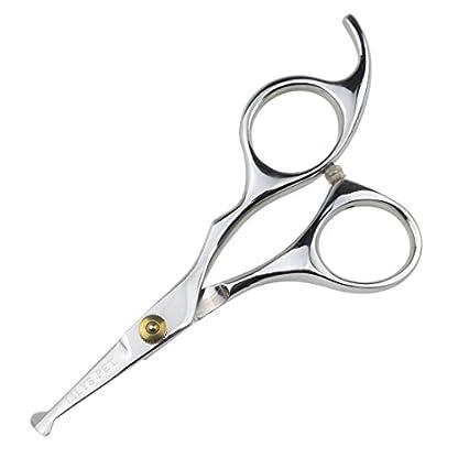 "LILYS PET 5.5"" Stainless Steel Small Ball Tip Facial Hair Scissors for Nose Hair,Ear Hair,Face hair,Paw hair (Symmetrical handle) 1"