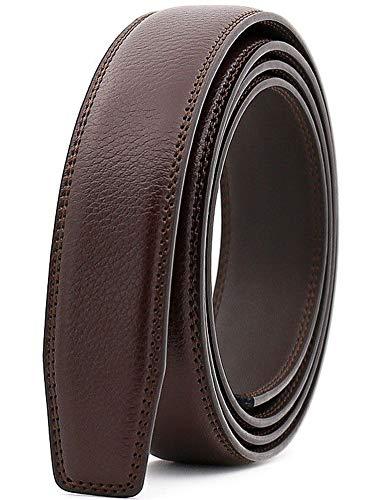 Wetoper hombres moda lujo cuero cintura cinta automática cintura correa sin Hebilla, 3,0 cm de ancho (Color 2, 130cm/34-44' cintura ajustable)