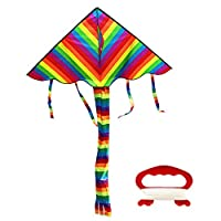Lixada Large Kite for Kids and Adults with Line Board Great for Beach Park Trip Camping Hiking