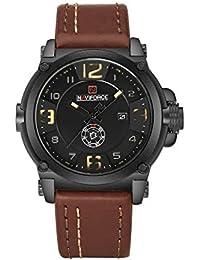 Naviforce reloj analógico cuarzo watch-men del deporte de moda Casual reloj de pulsera de