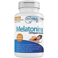 Melatonina con melisa, tila, valeriana, pasiflora y amapola californiana – Suplemento alimenticio con extracto.