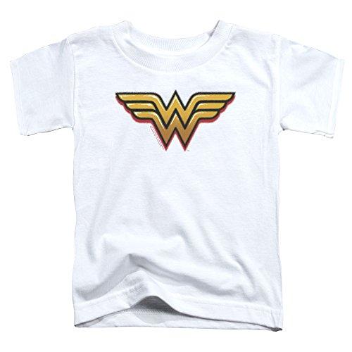 Wonder Woman - - Kleinkinder Airbrush Ww T-Shirt, 3T, White (Wonder Woman, Kleinkind)