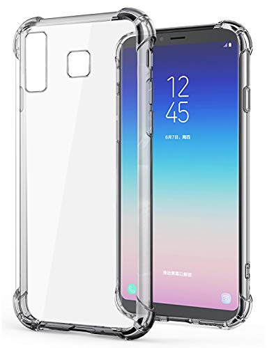 Jkobi Silicon Flexible Protective Shockproof Corner Back Case Cover For Samsung Galaxy A8 Star -Transparent