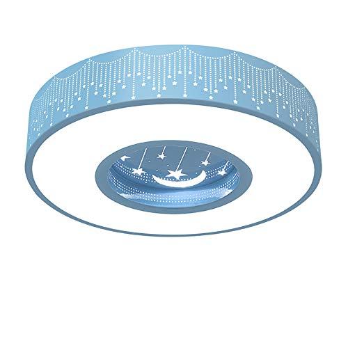 Bronze Mit Weißem Acryl (LED Deckenlampe 24W Moderne Kinderzimmerlampe LED-Deckenleuchte für Jungen und Mädchen Begrüßungsräume Licht Kreativ Mond mit Stern Zimmer weiße Zeitgenössisch Decken Beleuchtung, Ø40CM, 6000K, blau)