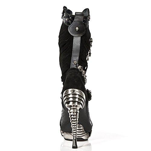 New Rock Magneto Schwarz Stiefel M.MAG034-S1 Black