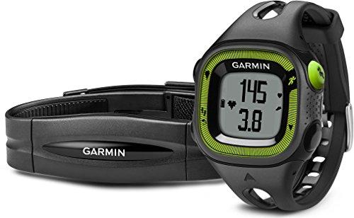 Garmin Forerunner 15 HRM -  Reloj deportivo con GPS y monitor de actividad con monitor de frecuencia cardiaca, color rojo y negro, talla L