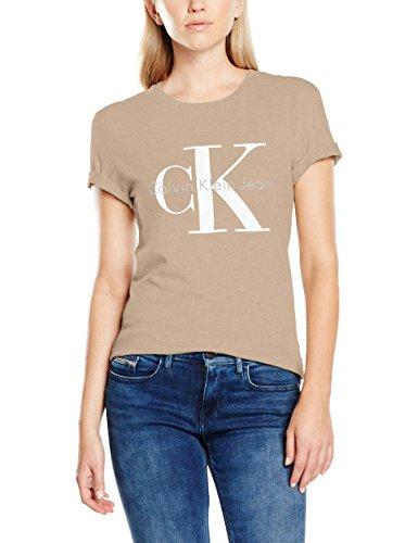 Calvin Klein Jeans Damen T-Shirt SHRUNKEN TEE, Einfarbig