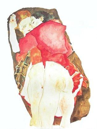 Egon Schiele Die Liebenden Poster Kunstdruck