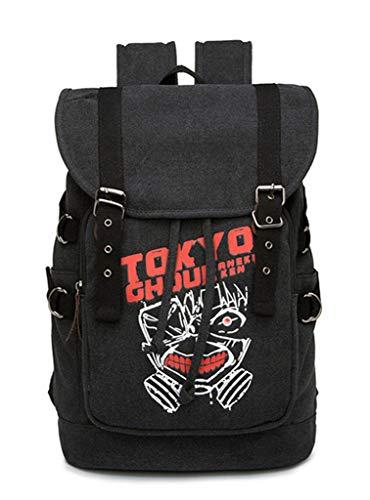 Cosstars Tokyo Ghoul Anime Cosplay Canvas Backpack Schultasche Rucksack Drawstring Büchertasche Daypack -