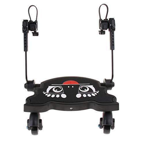 P Prettyia Baby Stroller Pedal Baby Stands Small Stroller Board - Schwarz