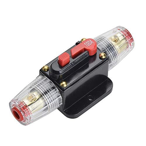 Qiorange 100A Automatiksicherungshalter Sicherungshalter Halterung Automat 100AMP DC 12-24V (Fuse Holder Type A) 24 Volt 100 Amp