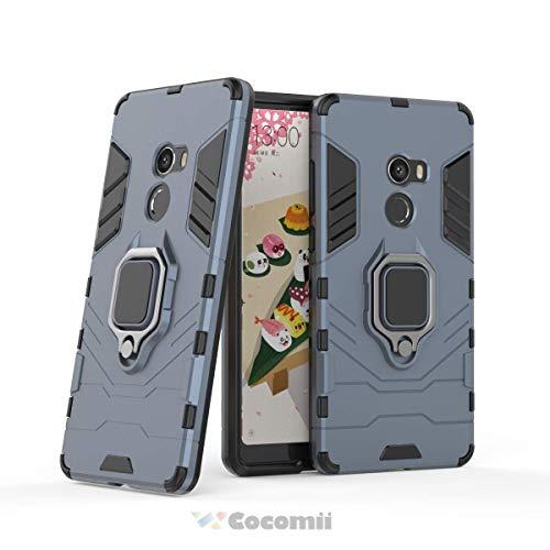 Cocomii Black Panther Armor Xiaomi Mi Mix 2/Mix EVO Funda [Robusto] Táctico Anillo Metálico Soporte [Funciona con El Montaje De Coche Magnético] Case Carcasa for Xiaomi Mi Mix 2 (B.Black)