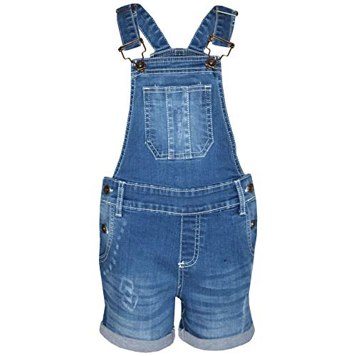 A2z 4 kids bambini ragazze salopette pantaloncini designer - shorts dungaree d77 light blue 11-12