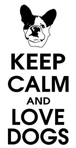 spb87 Keep Calm and Love Perros–Bulldog Mascota Cachorro casa corazón Vida Familiar Amor casa Juntos Cita de Pared Adhesivos de Vinilo Pegatinas Art Decor DIY