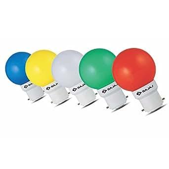 Bajaj Assorted Mix Colour 0.5 Watt LED Bulb 6Pc
