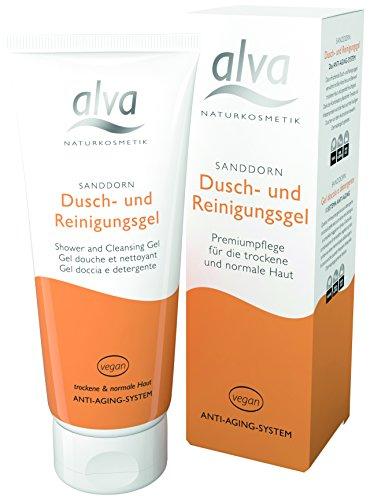 alva naturkosmetik Sanddorn Dusch- und Reinigungsgel, 1er Pack (1 x 100 ml) -