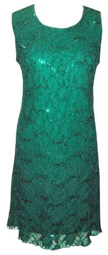 DangerousFX Grün (Sequin Dress) schönes, Funkelndes Cocktailkleid. Gr. -