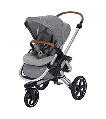 Bébé Confort NOVA 3W 'Nomad Grey' - Cochecito Todo Terreno, desde el nacimiento hasta los 3,5 años, color gris.