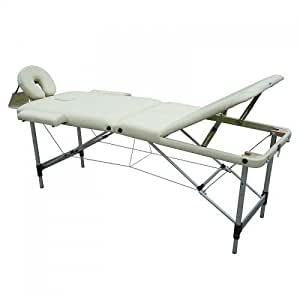 Feelgooduk tm04 table de massage pliante ultra l g re aluminium coins arrondis livr e avec - Table de massage pliante legere ...