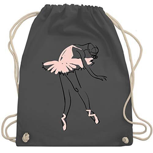 Tanzsport - Balletttänzerin Ballerina - Unisize - Dunkelgrau - WM110 - Turnbeutel & Gym Bag