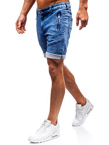 Bolf pantaloncini corti - jeans - a bottone - stile casual - da uomo red fireball hy347 blu xl [6f6]
