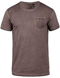SOLID Teil Herren T-Shirt Rundhals-Ausschnitt Shirt