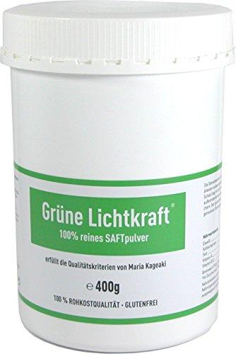 Grüne Lichtkraft - reines SAFT Pulver aus Gerstengras und Urweizengras 33/1 Bio Detox Powerfood (Urweizen, gras saft, gras säfte, kammutgras, kamutgrassaft, Gersten Grassaft) (400g) Test