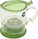 The Fine Life Ideal Bottom Dispensing Loose Leaf Tea Infuser and Coffee Brewer - Green - 500ml - Includes Acrylic Spoon, Acrylic Extender Ring, and Additional Filter