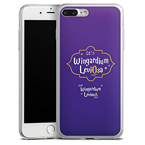 Apple iPhone X Slim Case Silikon Hülle Schutzhülle Wingardium Leviosa Harry Potter Zauberspruch Silikon Slim Case transparent