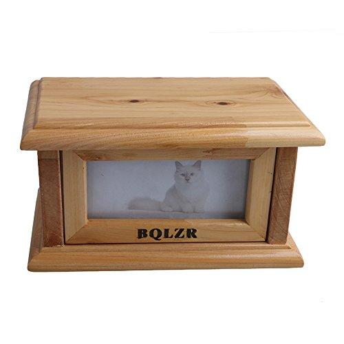 Liebeck 175x105x95mm Holz Farbe Flip Öffnen Foto Rahmen Hund Katze Haustier Feuerbestattung Urn Memorial Box - Urn Katze Foto